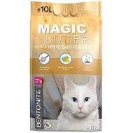 MAGIC PEARLS Kočkolit ML Bentonite Ultra White Baby Powder 10 l - Podstielka pre mačky