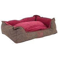 Akinu Chester S hnedá/červená – 55 × 50 × 20 cm - Pelech pre psov a mačky