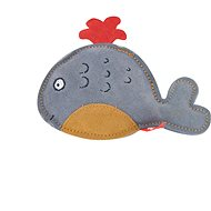 Akinu hračka veľryba Premium koža sivá