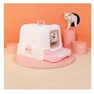 M-Pets Suez Rattan 69 × 42 × 41 cm ružový - Mačací záchod