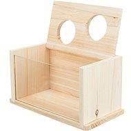 Trixie Drevený pieskový kúpeľ pre myši a škrečky 22 × 12 × 12 cm - Kúpeľňa pre hlodavce