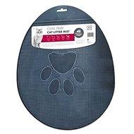 M-Pets Oval Paw labka 43 × 35 cm čierna - Rohožka