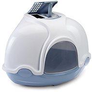 Mačací záchod IMAC Krytý mačací záchod rohový s filtrom 52 × 52 × 44,5 cm modrý