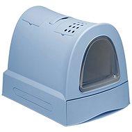 Mačací záchod IMAC Krytý mačací záchod s výsuvnou zásuvkou 40 × 56 × 42,5 cm modrý