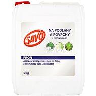 SAVO Podlahy a povrchy lemongrass 5 kg - Čistiaci prostriedok