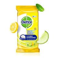 DETTOL Antibakteriálne obrúsky na povrchy, Citrón a Limetka 32 ks - Čistiace utierky
