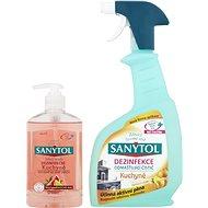 SANYTOL Duopack Dezinfekcia odmasťující čistič kuchyne + dezinfekčné tekuté mydlo do kuchyne - Čistiaca sada