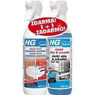 HG Limescale Remover 3× Thicker + Glass and Mirrors 2× 500ml - Limescale Remover