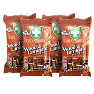 GREEN SHIELD for wood and laminates 4 × 50 pcs - Wet Wipes