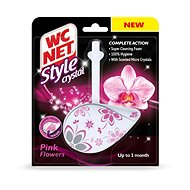 WC NET Style Crystal Pink Flowers 1× 36,5 g - WC blok