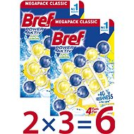 BREF Power Aktiv Lemon 6× 50 g - WC blok