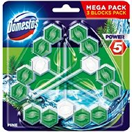 DOMESTOS Power 5 Pine 3× 55 g - WC blok
