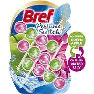 BREF Perfume Switch Apple-Water Lily BREF 3 × 50 g - Toilet Cleaner