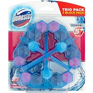 DOMESTOS Power 5 Blue Water Pink 3× 53 g - WC blok