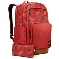 Case Logic Query batoh 29L (cihlově červená se vzorem/kmínově hnědá) - Batoh na notebook