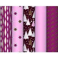 Clairefontaine Excellia rouge poudré 1 ks, 10 m, Mix I - Darčekový baliaci papier