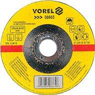 Vorel Kotúč na kov 125 × 22 × 6,8 mm vypuklý brúsny - Brúsny kotúč