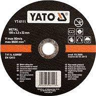 Yato Kotúč na rezanie kovu 180 × 2,5 × 22 - Rezný kotúč