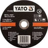 Yato Kotúč na kov 125 × 22 × 2,5 mm INOX - Rezný kotúč