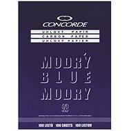 CONCORDE uhlový, A4, 100 listů, modrý