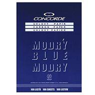 CONCORDE uhlový, A4, 25 listů, modrý - Farebný papier