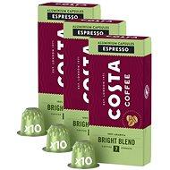 Costa Coffee Bright Blend 100% Arabica Espresso 10 kapsúl – kompatibilné s kávovarmi Nespresso; 3×