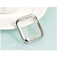 COTEetCI celoplošné ochranné termoplastové puzdro na Apple Watch 44 mm strieborné - Ochranný kryt