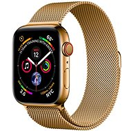 COTEetCI oceľový magnetický remienok pre Apple Watch 38/40 mm zlatý