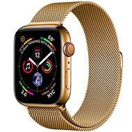 COTEetCI oceľový magnetický remienok pre Apple Watch 42/44 mm zlatý