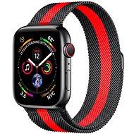 COTEetCI oceľový magnetický remienok pre Apple Watch 42/44mm čierny/červený