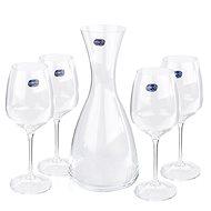Crystalex GISELLE WINE SET karafa a poháre na víno - Karafa