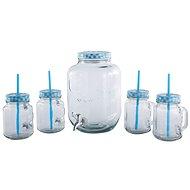 CS Solingen Dispenzor na nápoje a súprava pohárov 4 ks modrá - Súprava pohárov