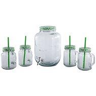 CS Solingen Dispenzor na nápoje a súprava pohárov 4 ks zelená - Súprava pohárov