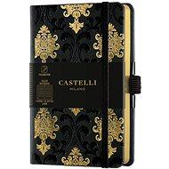 Zápisník CASTELLI MILANO Copper & Gold Baroque, veľkosť S Gold