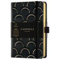 Zápisník CASTELLI MILANO Copper & Gold Deco, veľkosť S Gold