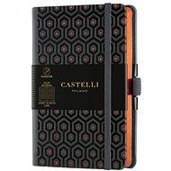 Zápisník CASTELLI MILANO Copper & Gold Honey, veľkosť S Orange