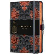 Zápisník CASTELLI MILANO Copper & Gold Baroque, veľkosť S Orange