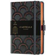 Zápisník CASTELLI MILANO Copper & Gold Deco, veľkosť S Orange