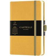 Zápisník CASTELLI MILANO Aqua Mustard, veľkosť S