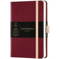 Zápisník CASTELLI MILANO Aqua Cherry, veľkosť S