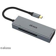 AKASA – 3-in-1 CF, SD a microSD, USB C, čítačka kariet/AK-CR-09BK - Čítačka kariet
