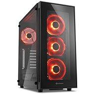 Sharkoon TG5 Glass Red - Počítačová skriňa