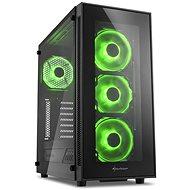 Sharkoon TG5 Glass Green - Počítačová skriňa