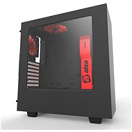 NZXT S340 Alza edícia čierno-červená - Počítačová skriňa