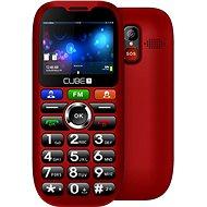 CUBE1 S100 Senior červený - Mobilný telefón