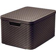CURVER STYLE BOX s vekom L, 03619-210 – hnedý - Úložný box