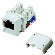 Datacom RJ45 UTP CAT5E (DUAL) MINI biely - Keystone