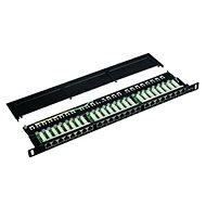 "Datacom Patch panel 19"" STP 24 port CAT5E LSA 0.5U BK (3× 8p) - Patch panel"