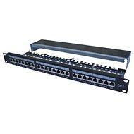 "Datacom Patch panel 19"" STP 24 port CAT6A LSA 1U BK (3 × 8p)/VL - Patch panel"