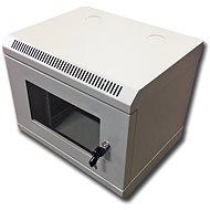 """Datacom 10"""" 6U/280 mm (sklo) sivý - Rozvádzač"""